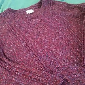 Plus size 3X Crew Neck Sweater